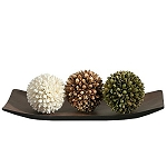 Elegant Expressions Decorative Tray and Floral Orb Set