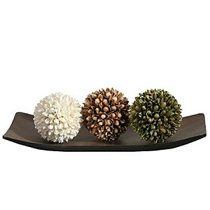 elegant expressions decorative tray and floral orb set - Decorative Orbs